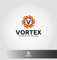 vortex - letter v logo vector image