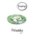 watercolor hand drawn halushky vector image