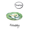 watercolor hand drawn of halushky vector image vector image