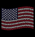 waving usa flag stylization of uncle sam hat icons vector image vector image