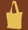 Yellow Cloth Bag vector image vector image