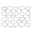 blank empty speech bubbles for infographics vector image