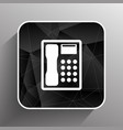 Telephone icon phone ip business concept vector image