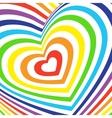 Three-dimensional volumetric valentines day card vector image