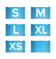clothing size labels set isolated on white vector image