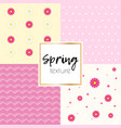spring simple taxtue vector image