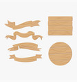 wooden plank signs vector image