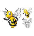 Bee Cartoon Character vector image