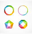 set of minimal geometric multicolor symbols and vector image