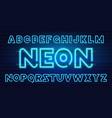 80 s blue neon retro font futuristic chrome vector image vector image
