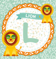 ABC animals L is lion Childrens english alphabet vector image vector image