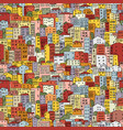 abstract cityscape background seamless pattern vector image