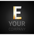 abstract logo letter E vector image vector image