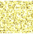 abstract texture of golden mosaic inlay vector image