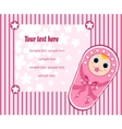 baby girl card 3 vector image vector image