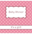 Background with carriages baby shower vector image