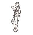 basketball players action vector image
