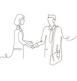 business agreement - one line design style vector image