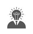 businessman with lightbulb head flat icon on white vector image