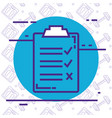 checklist clipboard isolated icon vector image vector image