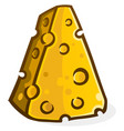cheese block cartoon vector image vector image