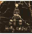 Christmas Background on Hipsters Style vector image vector image