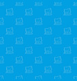 cottage pattern seamless blue vector image vector image