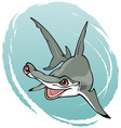 crazy hammerhead shark vector image