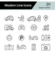 electric car icon set 1 hybrid vehicle symbol vector image vector image