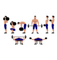 fitness and bodybuilding exercises for me vector image