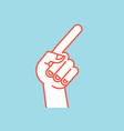 gesture direction sign stylized hand with index vector image vector image