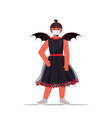 girl in mask wearing bat costume halloween party vector image