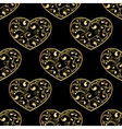 gold hearts seamless vector image
