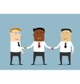 handshake multiethnic business partners vector image vector image