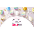 happy easter sale bannerbeautiful background vector image vector image