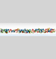 holiday christmas panorama with colorful gift vector image