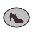 icon in flat design fashion footwear women boot vector image vector image