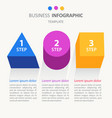 infographic business template workflow layout vector image vector image