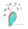 isometric style brainstorming process concept vector image