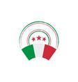 italian flag retro stamp vector image vector image