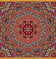 kaleidoscopic psychedelic design mandala vector image vector image