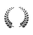laurel wreath icon round leaf decoration vector image vector image