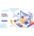 logistics company concept vector image vector image