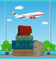 luggage bags for traveling vector image vector image