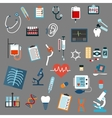 Medical diagnostics testing and equipment vector image vector image