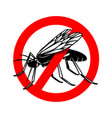 mosquito danger sign template design element vector image