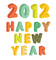 New Years text 2012 vector image