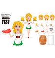 oktoberfest beer festival sexy redhead girl vector image