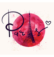 Paris and red circle vector image vector image