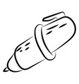 pen sketch on white background vector image
